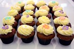 Mini Banana and Pineapple Cupcake with cream cheese frosting