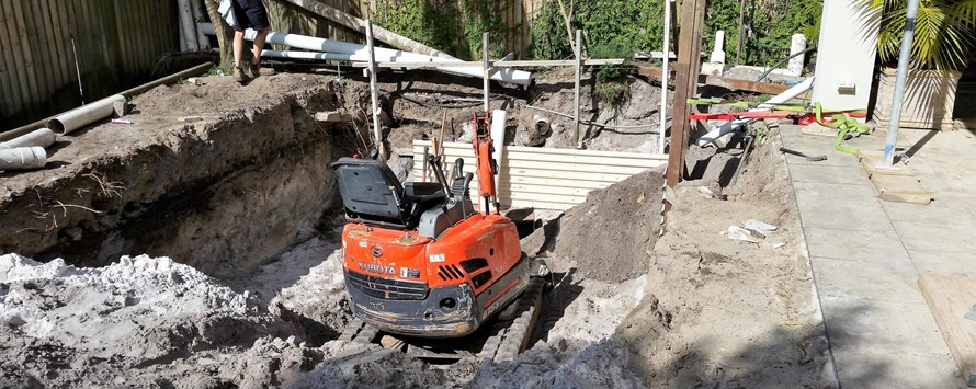 Pool Excavation at Bellevue Hill