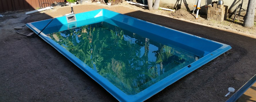 Pool installed