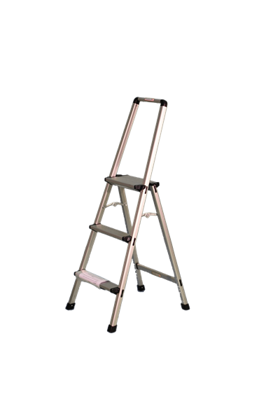 Aluminium Step Ladder with Handrail 600mm