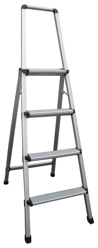 Aluminium Step Ladder with Handrail 1100mm