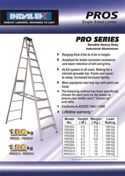 Indalex Pro Series Aluminium Single Sided Step 5ft (1.5M)