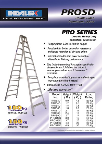 Indalex Pro Series Aluminium Double Sided Step 16ft (4.9M)