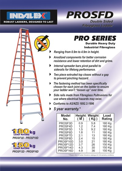 Pro Series Fibreglass Double Sided Step 3ft ( 0.9M)
