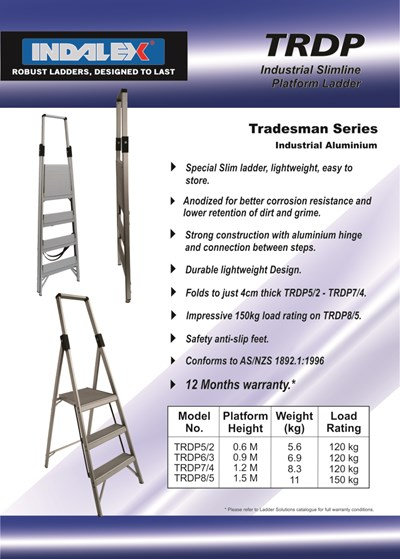Slim Line Platform Ladder 5/2 (2ft / 0.6M Platform)