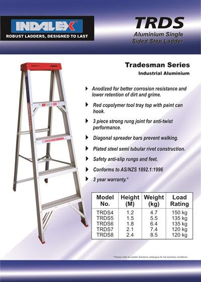 Tradesman Aluminium Single Sided Step 4ft