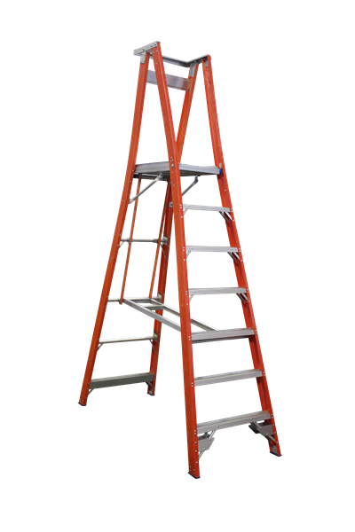Pro Series Fibreglass Platform Ladder 10/7 (10ft / 2.1M Platform )