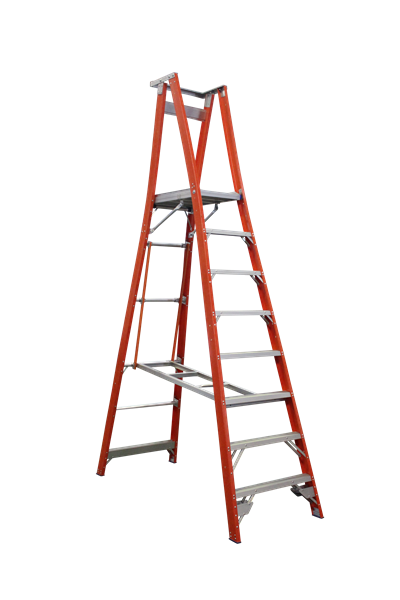 Pro Series Fibreglass Platform Ladder 11/8 (8ft / 2.4M Platform )