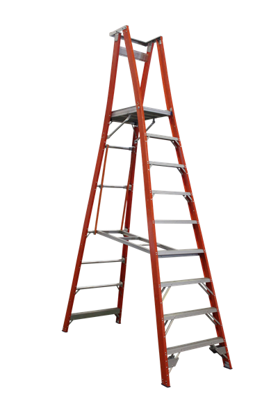 Pro Series Fibreglass Platform Ladder 12/9 (9ft / 2.7M )