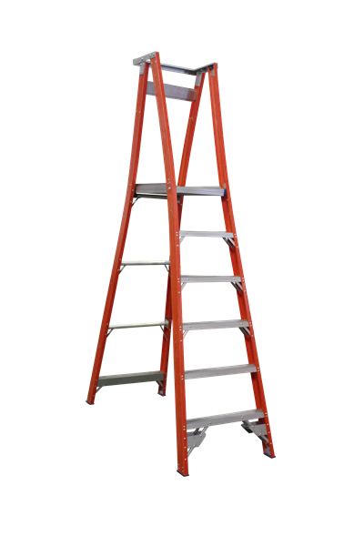 Pro Series Fibreglass Platform Ladder 9/6 (6ft /1.8M Platform)
