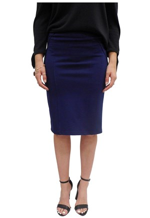 NAVY - Monday ponti skirt