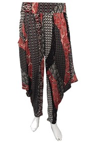 RED PRINT  - Rhianna printed harem pants