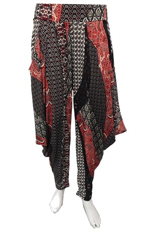 LIMITED STOCK - RED PRINT  - Rhianna printed harem pants