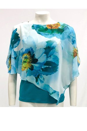 Print 190  - Print Chiffon 2 In 1 Top