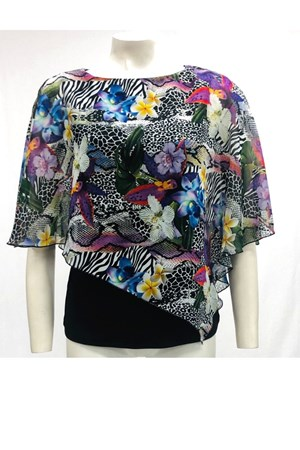 PRINT 207 - Print Chiffon 2 In 1 Top