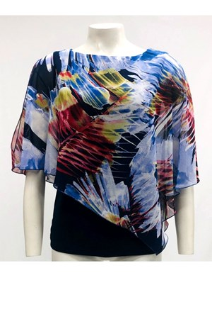 PRINT 232 - Print 2 In 1 Chiffon Top