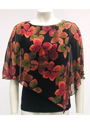 PRINT 255 - Print 2 In 1 Chiffon Top