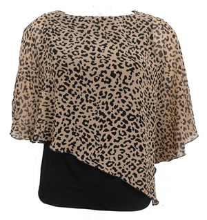 LIMITED ANIMAL - Print chiffon 2 in 1 top.