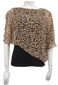 ANIMAL - Print chiffon 2 in 1 top