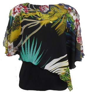LIMITED PRINT 248 - print chiffon 2 in 1 top