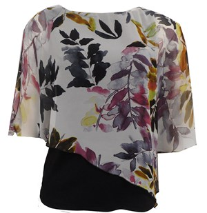LIMITED PRINT 250 - print chiffon 2 in 1 top