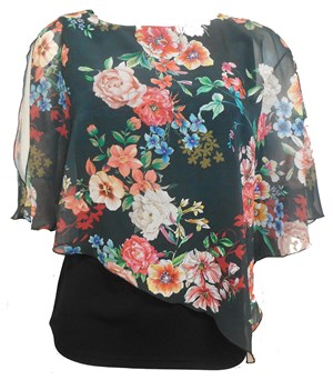 PRINT 252 - Print chiffon 2 in 1 top