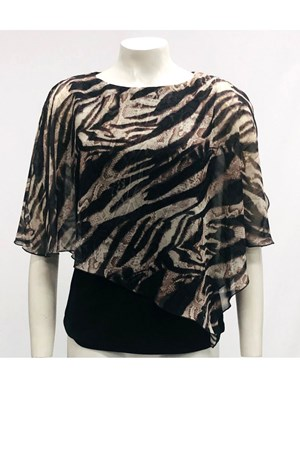 PRINT - Print Chiffon 2 In 1 Top