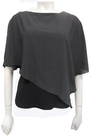 LIMITED SPOT - Print chiffon 2 in 1 top