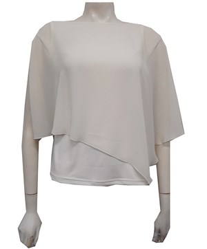 IVORY - Plain chiffon 2 in 1 top