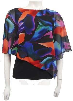 LIMITED STOCK - CHIFFON PRINT 210 - Print chiffon 2 in 1 top