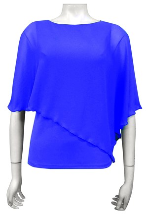 ROYAL - Plain chiffon 2 in 1 top