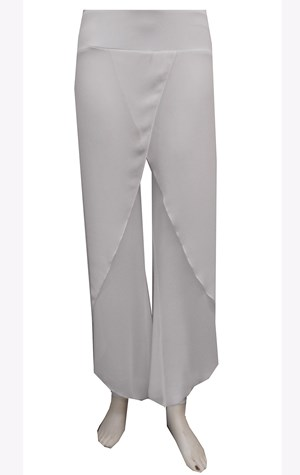 WHITE - Petra chiffon overlay pant with tight