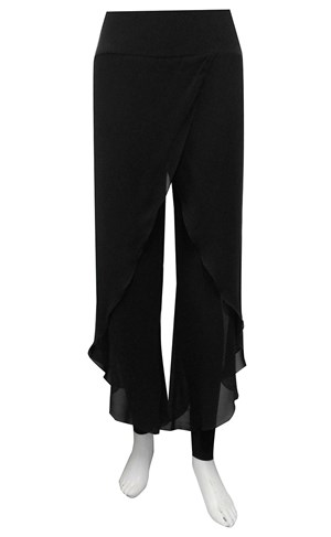 Petra chiffon overlay pant with tight
