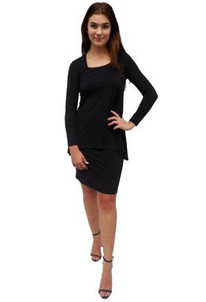 LIMITED STOCK - BLACK - Rita dress with over top
