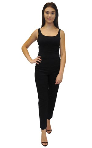 CLICK TO SEE COLOURS - Carol bengaline pant with splits and waistband