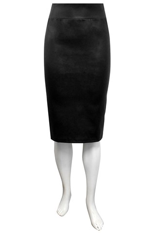 Mary leatherette pencil skirt