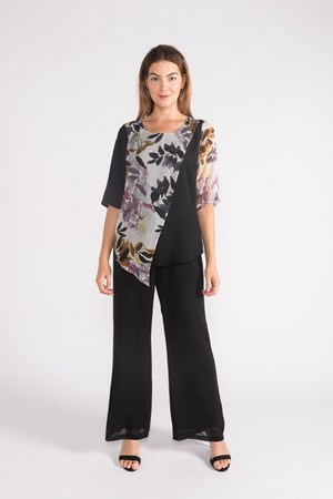 Claudia Chiffon Top-  Autumn Floral