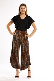 Printed Knit Wrap Pants