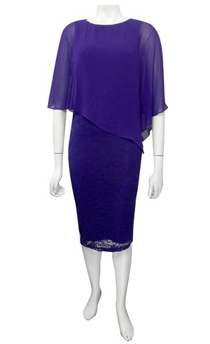 BIBA - Karen lace dress with chiffon overlay