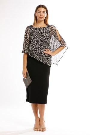 Print 219  - Penny Chiffon Angle Overlay Dress