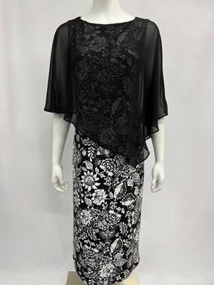 Printed Chiffon Overlay Dress New Print 1