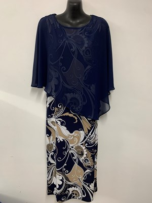 SOLD OUT Printed Chiffon Overlay Dress New Print 3