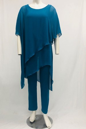 TEAL - Tilly chiffon Overlay Jumpsuit