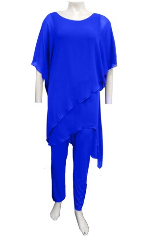 ROYAL - Tilly chiffon overlay jumpsuit