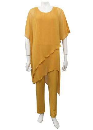 MUSTARD - Tilly chiffon overlay jumpsuit