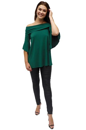 LIMITED STOCK - POSEY GREEN - Shirley swing top with shoulder band