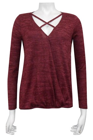 BURGANDY - Heidi cross front hi low top