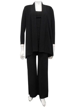 BLACK - Vera swing knit jacket