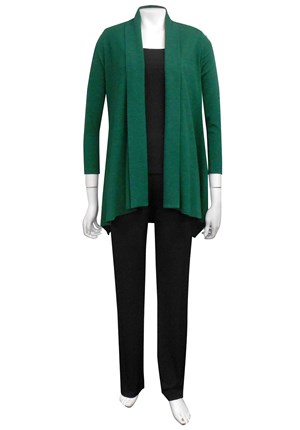 GREEN - Vera swing knit jacket