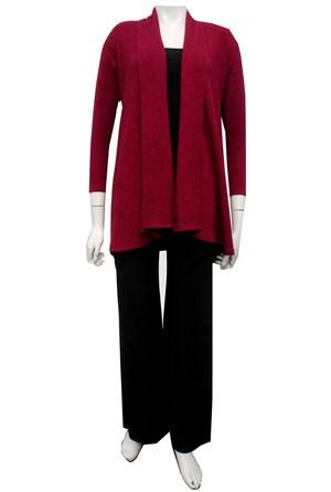 HOT PINK - Vera swing knit jacket